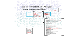 Das Modell Didaktische Analyse - Semantisierung und Üben_8.10.