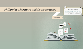 Copy of Philippine Literature and its Importance