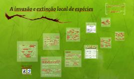 A invasão e extinção local de espécies