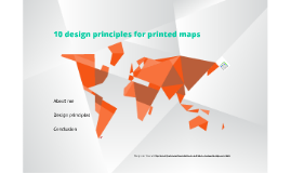 10 design principles for printed maps