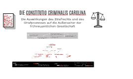 DIE CONSTITUTIO CRIMINALIS CAROLINA