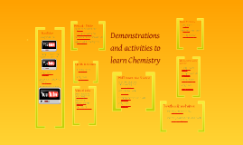 Chemistry activities and demonstrations