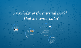 Knowledge of the external world: what are sense-data?
