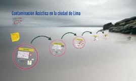 Contaminacion Acustica en Lima