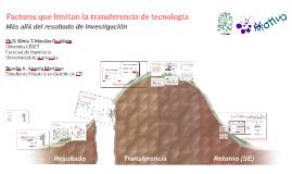 RedMotiva Factores que limitan la transferencia de tecnología