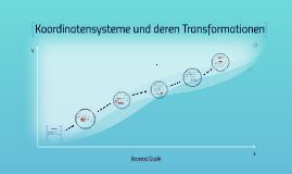 Koordinatensysteme und deren Transformationen