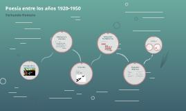 Poesía entre los años 1920-1950