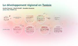 Le développement régional de la Tunisie