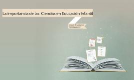 La importancia de las ciencias en Educación Infantil