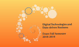 Digital Technologies and Data-driven Business