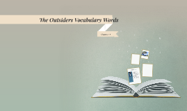 The Outsiders Vocabulary Words