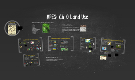 APES Ch 10: Land Use