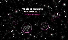 Copy of PUNTO DE EQUILIBRIO MULTIPRODUCTO