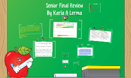 Seinor Final Review