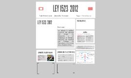 LEY 1523  2012