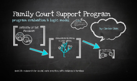 Family Court Support Program - Program Evaluation & Logic Model
