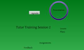 Tutor Training Ideas