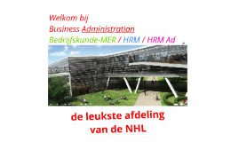 Business Management bij de NHL