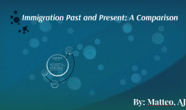 Key points regarding immigration of the past (1885-1914)