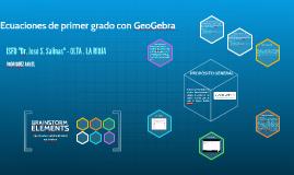 Ecuaciones de primer grado con GeoGebra