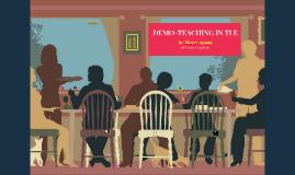 DEMO-TEACHING IN TLE