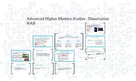 Advanced Higher Modern Studies - Dissertation NAB