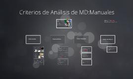Criterios Análisis de MD: Manuales