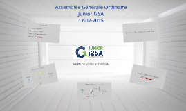 Assemblée Générale Ordinaire Bilan 2015 - Junior I2SA