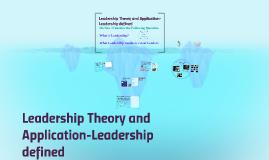 Copy of Leadership defined