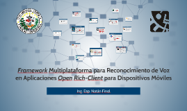 Framework Multiplataforma para Reconocimiento de Voz en Apli