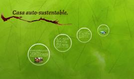 Casa auto-sustentable.