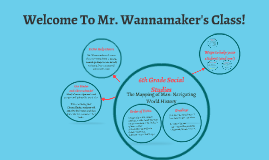 Welcome To Mr. Wannamaker's Class!
