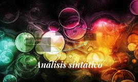 Análisis sintático