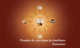 Copy of Émeutes de 2005 dans les banlieues françaises