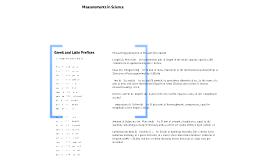Measurements in Science