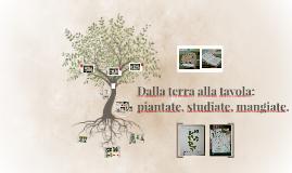 Dalla terra alla tavola: piantate, studiate, mangiate.