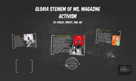 Activism: Gloria Steinem