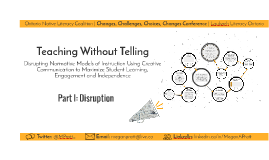 Teaching Without Telling | Part I: Disruption