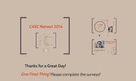 (offline) CASC Retreat 2016