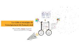 Les défis et stratégies de l'enseignement du français oral