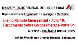MEC051 - DINÂMICA DOS FLUIDOS - AULA 21