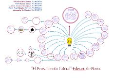 """""""El pensamiento Lateral""""-Edward de Bono"""