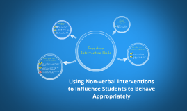 Copy of Using Non-verbal Interventions to Influence Students to Beha
