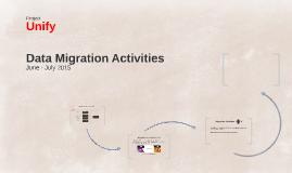 Data Migration Activities