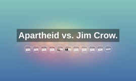 apartheid vs jim crow It is the us apartheid, the new jim crow about the author graham boyd is founder and director of the aclu drug policy litigation project.