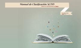 Manual de Clasificación SCDD