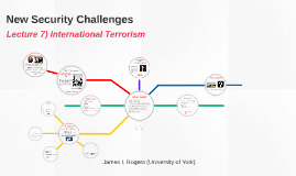 New Security Challenges: Lecture 7- International Terrorism