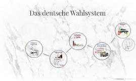 Das deutsche Wahlsystem