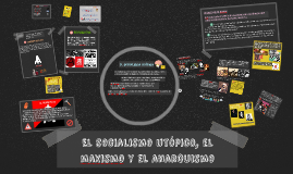 El socialismo utópico, el maxismo y el anarquismo