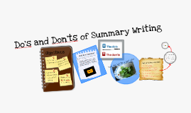 Copy of Do's and Don'ts of Summary Writing